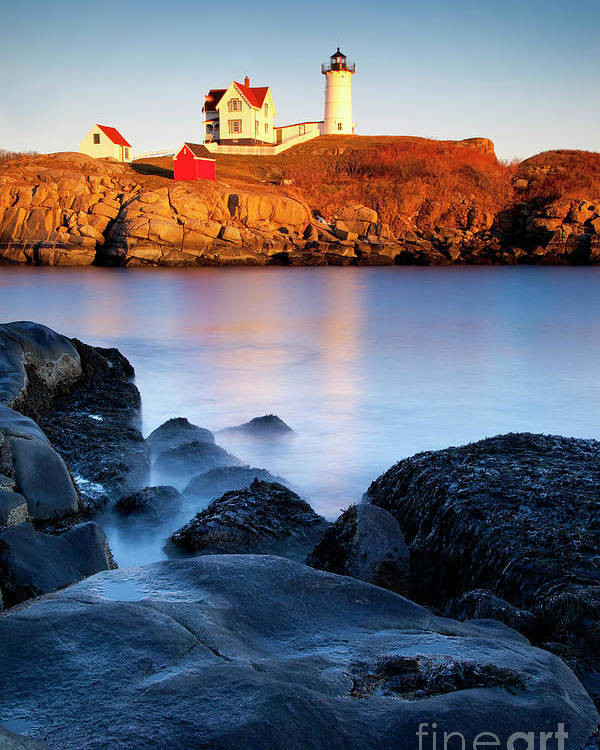 Nubble Poster featuring the photograph Nubble Lighthouse by Brian Jannsen