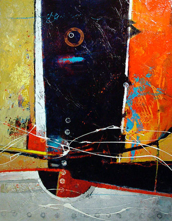 Abstract Poster featuring the painting Observatory by Dale Witherow
