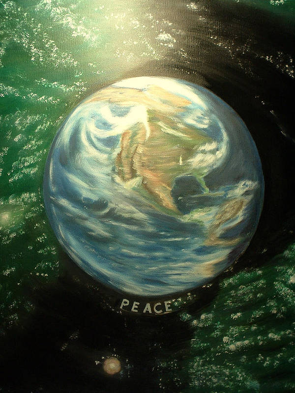 Peace Project Poster featuring the painting Peace by Kenneth LePoidevin