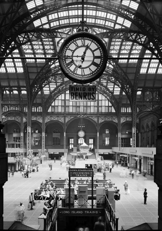 1960s Poster featuring the photograph Pennsylvania Station, Interior, New by Everett