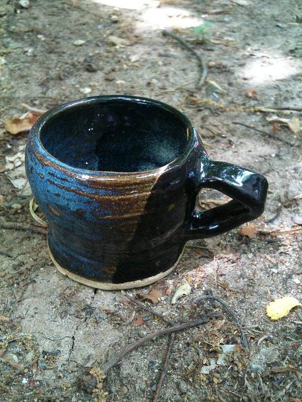 Petite Poster featuring the ceramic art Petite Tea Cup by Emily Osborne