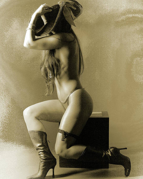Nude Poster featuring the photograph Pirate Girl by Naman Imagery