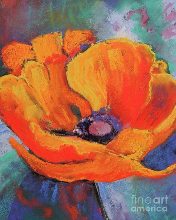 Poppy Poster featuring the painting Poppy by Melinda Etzold