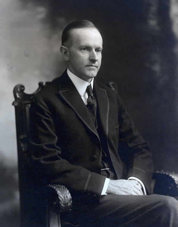 president Calvin Coolidge Poster featuring the photograph President Calvin Coolidge by International Images