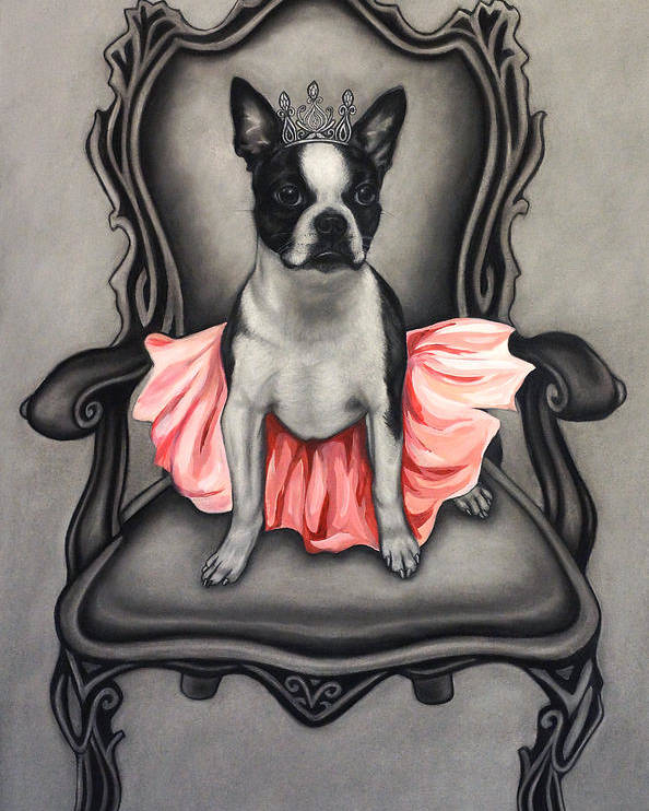 Puppy Poster featuring the drawing Princess by Courtney Kenny Porto