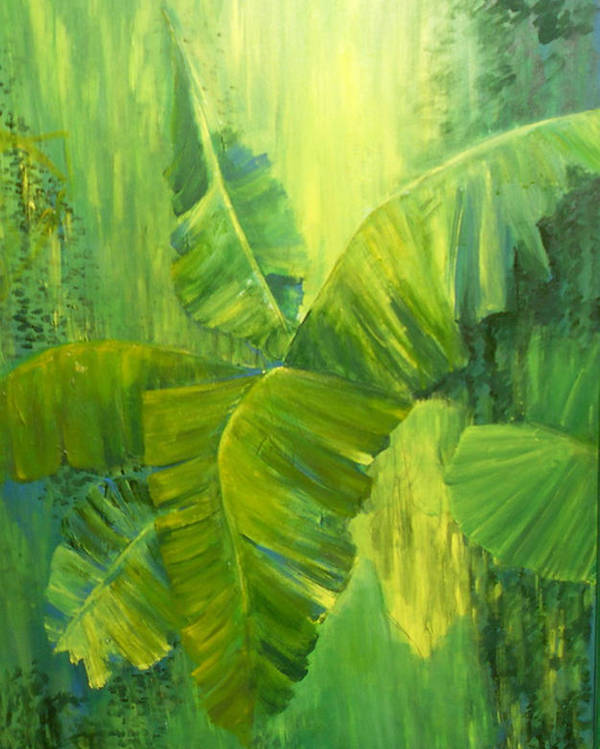 Rain Forest Nature Poster featuring the painting Rain Forest by Carol P Kingsley