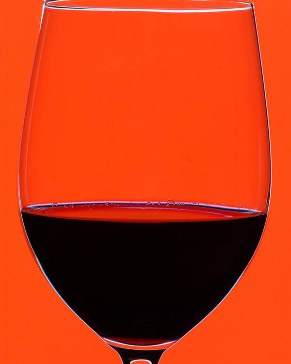 Frank Tschakert Poster featuring the photograph Red Wine Glass by Frank Tschakert