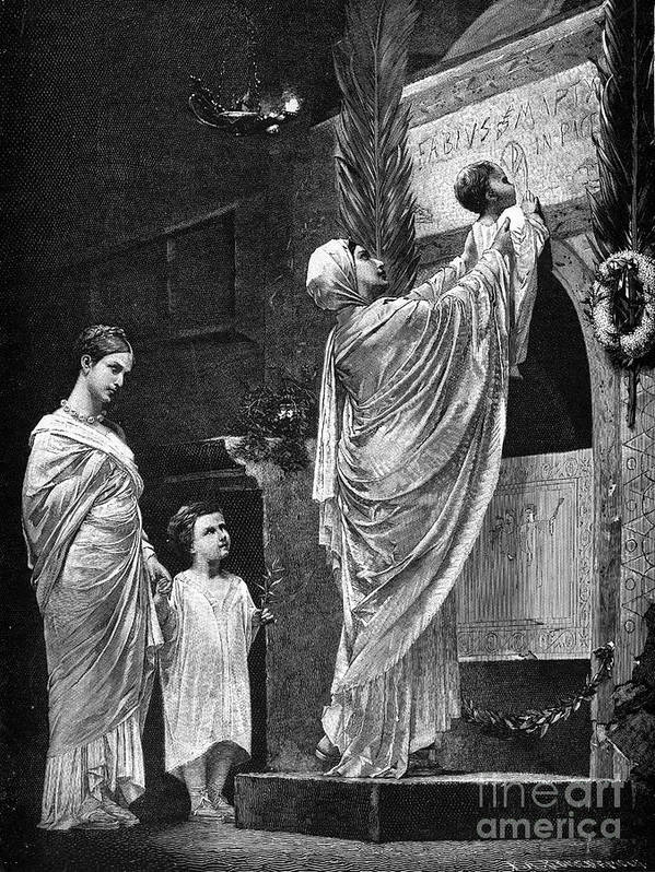 2nd Century Poster featuring the photograph Rome: Christian Widow by Granger