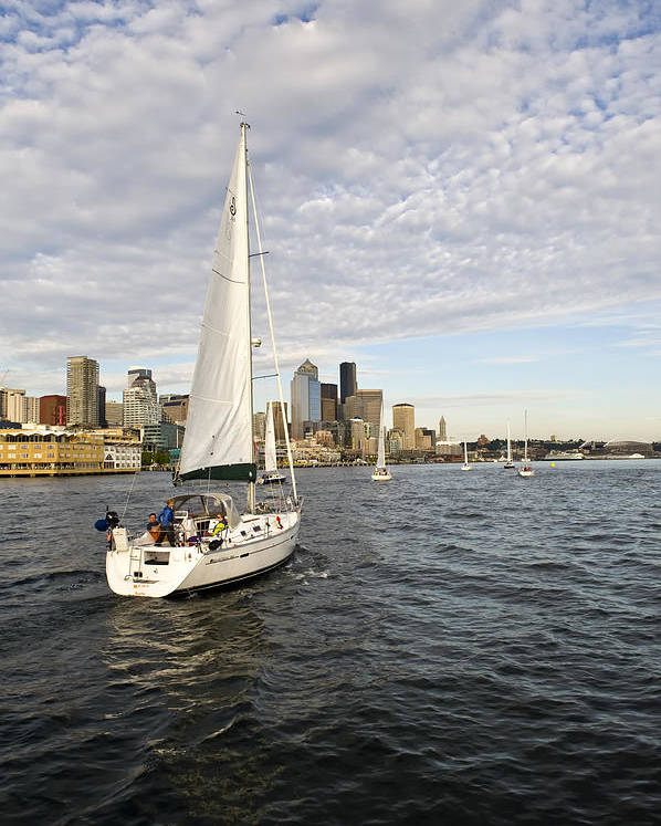 Seattle Poster featuring the photograph Sail Seattle by Tom Dowd