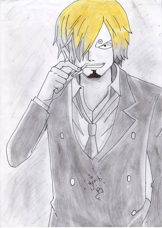 Poster featuring the drawing Sanji by Ayoube Bouzallif