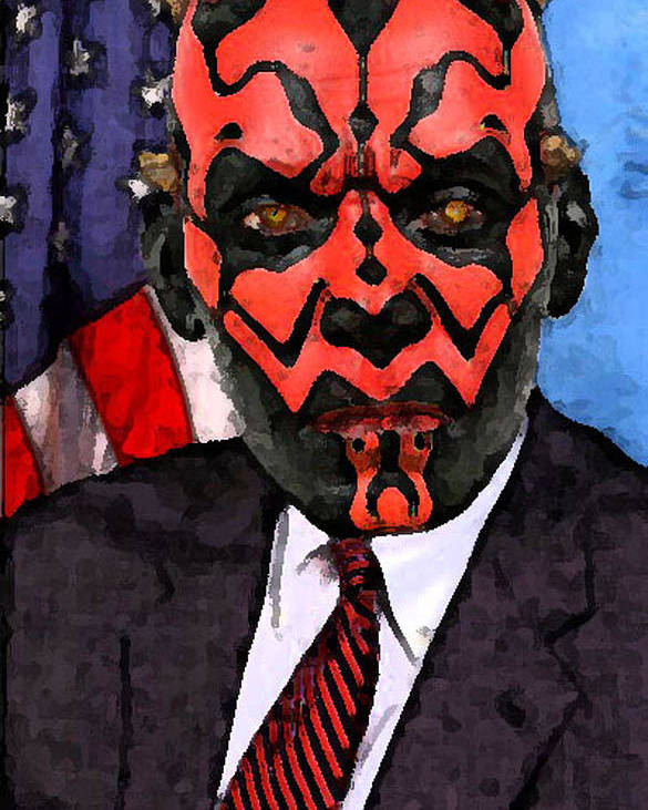 Star Wars Poster featuring the digital art Senator Darth Maul by Eric Forster