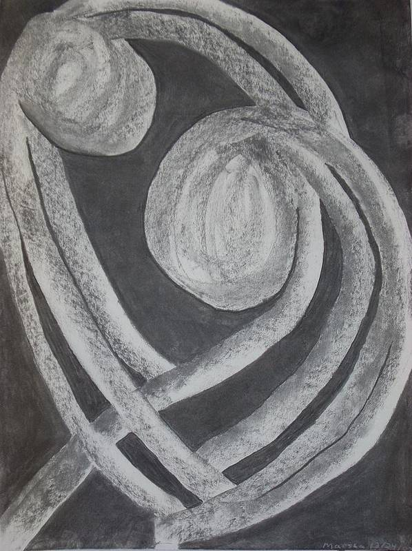 Charcoal Poster featuring the drawing Series 1 by Marsha Ferguson