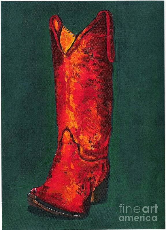 Boots Poster featuring the painting Singled Out by Frances Marino