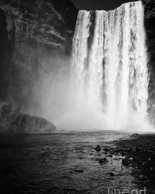 Skogafoss Poster featuring the photograph Skogafoss Waterfall In Iceland by Joe Fox