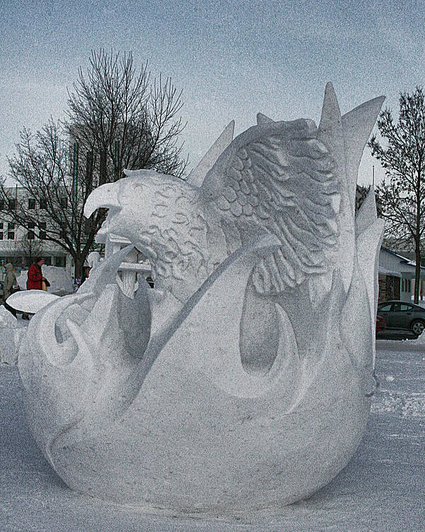 Poster featuring the photograph Snow Sculpture by Laurie Prentice