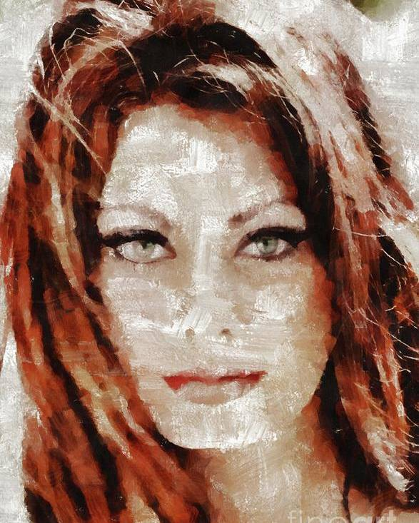 Vintage Art Poster Silver Screen Actress Sophia Loren 1 Print A4 A3 A2 A1