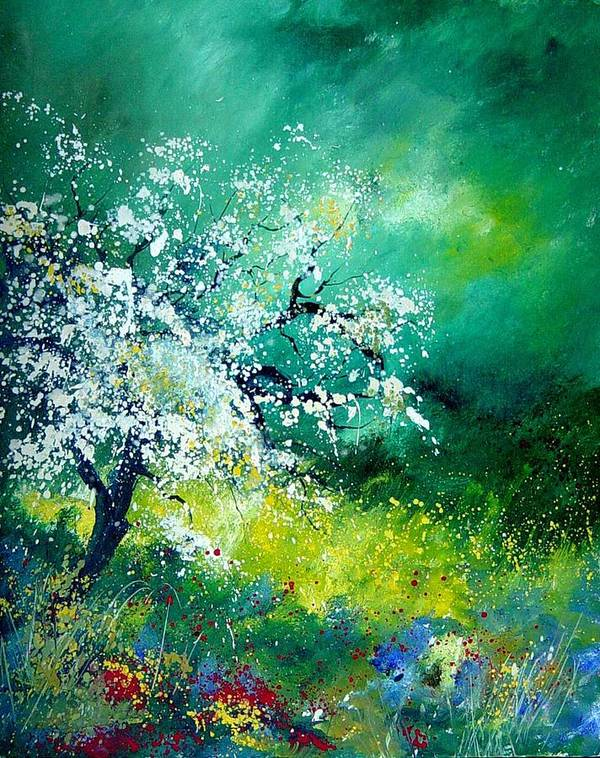 Flowers Poster featuring the painting Spring by Pol Ledent