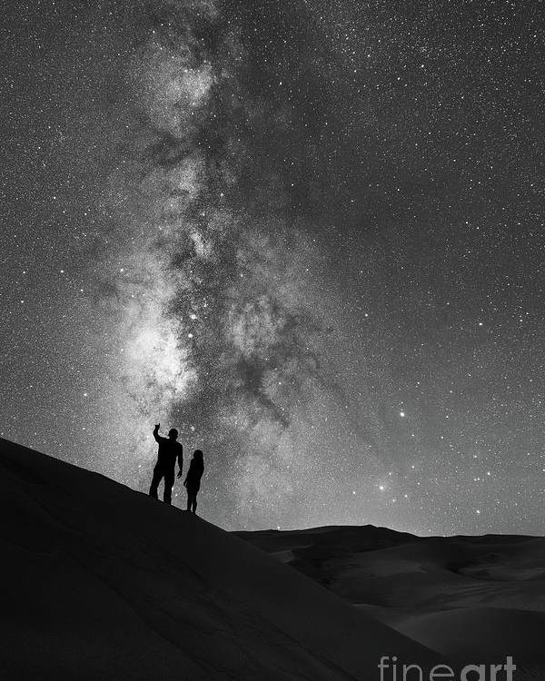 Star Crossed Lovers Poster featuring the photograph Stargazers by Michael Ver Sprill