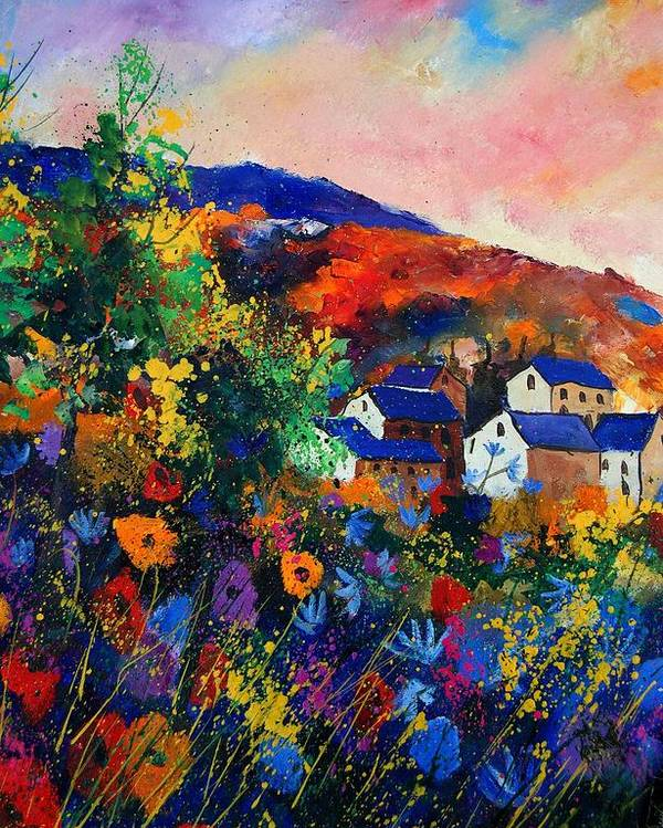Landscape Poster featuring the painting Summer by Pol Ledent
