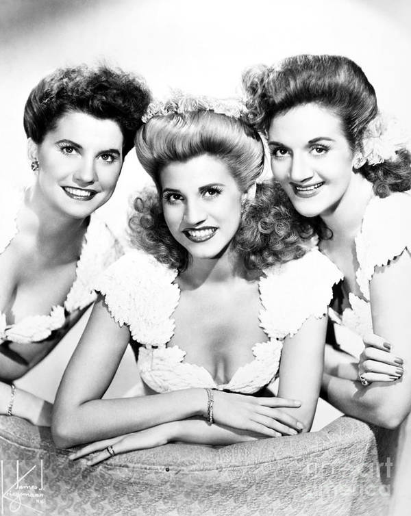 20th Century Poster featuring the photograph The Andrews Sisters by Granger