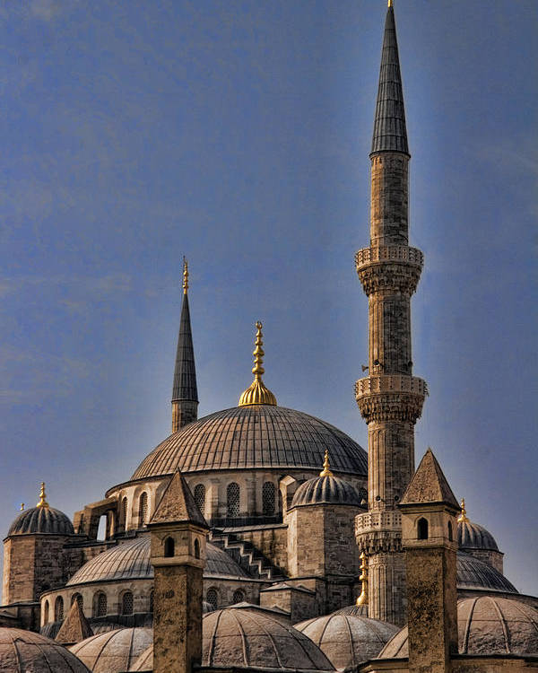 Turkey Poster featuring the photograph The Blue Mosque In Istanbul Turkey by David Smith