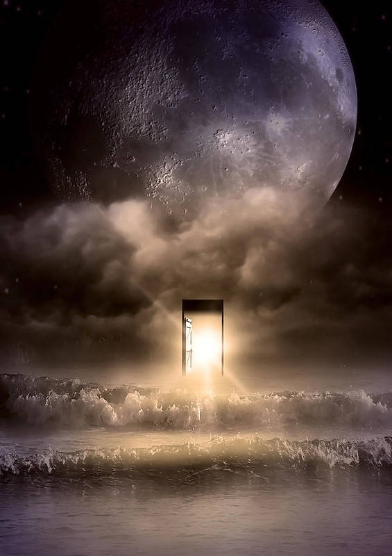 Blue Moon Poster featuring the photograph The Door by Svetlana Sewell