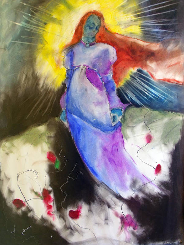 Goddess Poster featuring the painting The Empress by Erika Brown