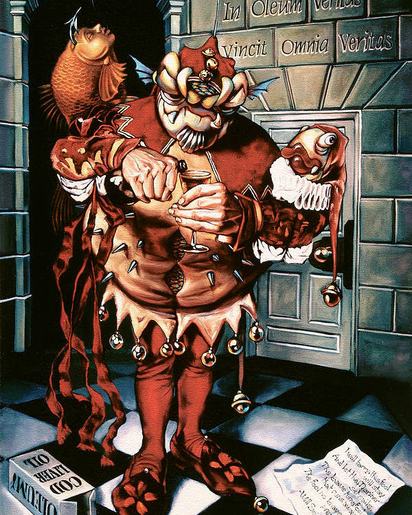 Jester Poster featuring the painting The Jesterook by Patrick Anthony Pierson