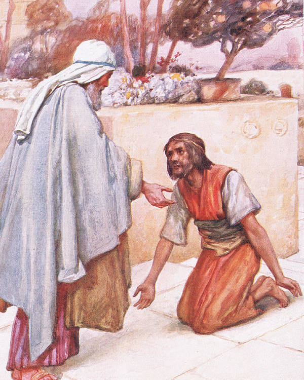 Prodigal Poster featuring the painting The Return Of The Prodigal Son by Arthur A Dixon