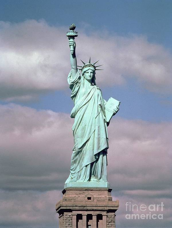 The Poster featuring the photograph The Statue Of Liberty by American School