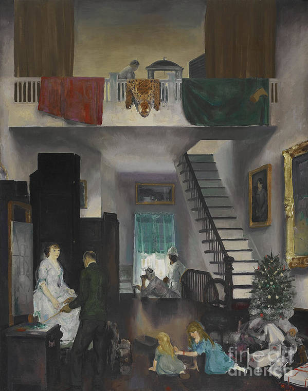 George Wesley Bellows (1882 � 1925) Poster featuring the painting The Studio by MotionAge Designs