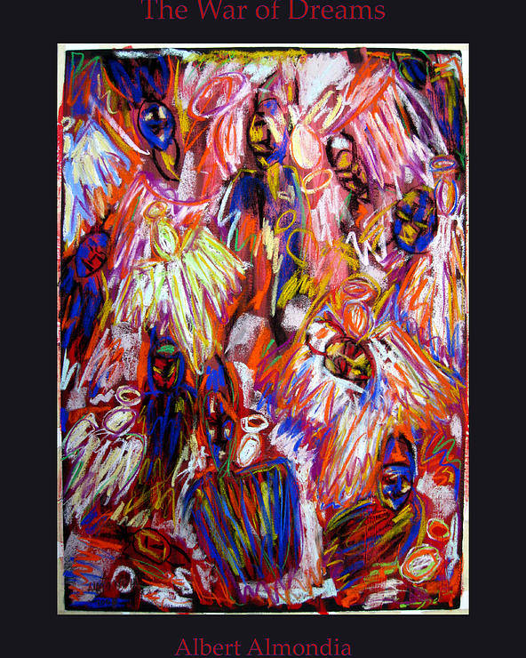 Figure Poster featuring the painting The War Of Dreams by Albert Almondia