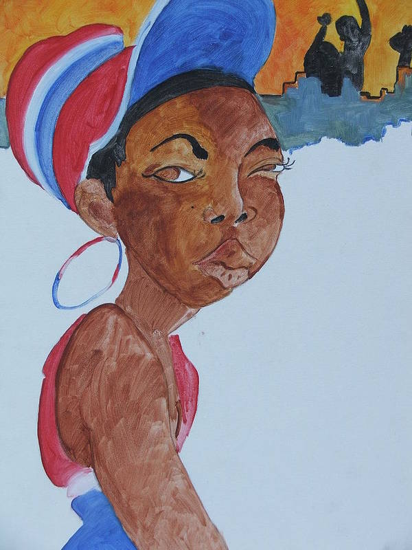 Acrylic Poster featuring the painting Untitled by Taylor Lacey