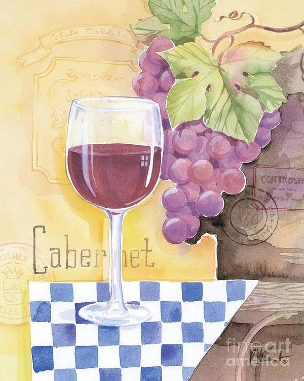 Vintage Poster featuring the painting Vintage Cabernet by Paul Brent