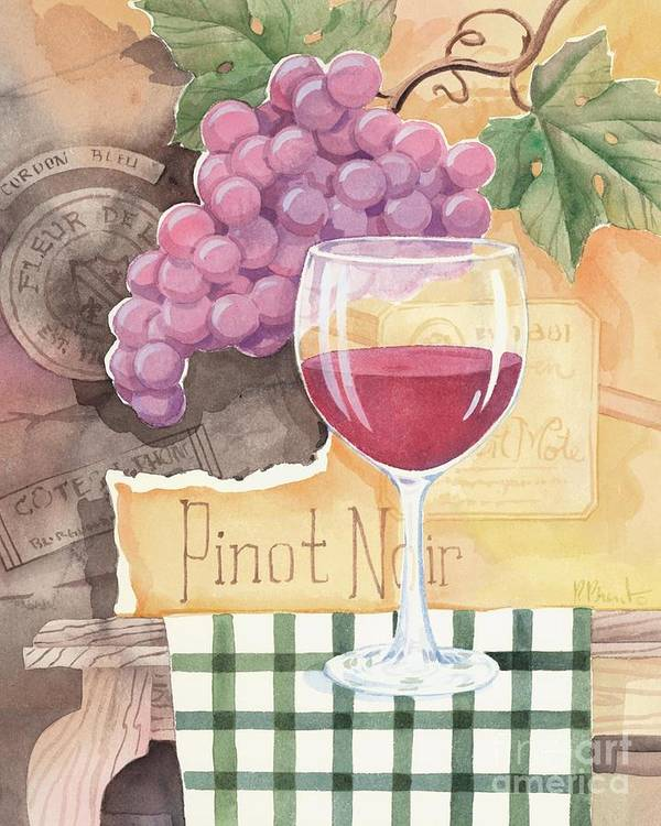 Vintage Poster featuring the painting Vintage Pinot Noir by Paul Brent