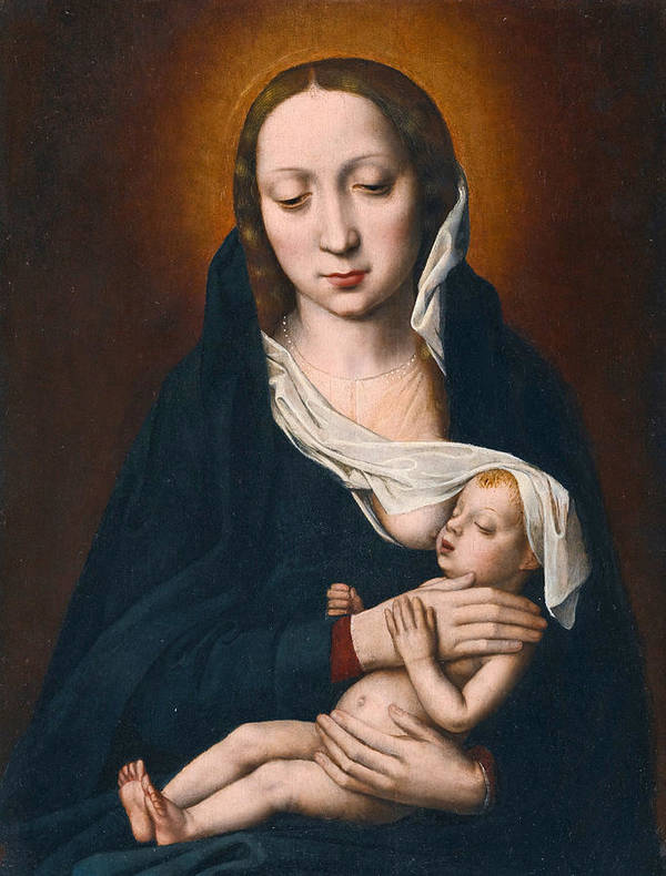 Ambrosius Benson Poster featuring the painting Virgin And Child by Ambrosius Benson