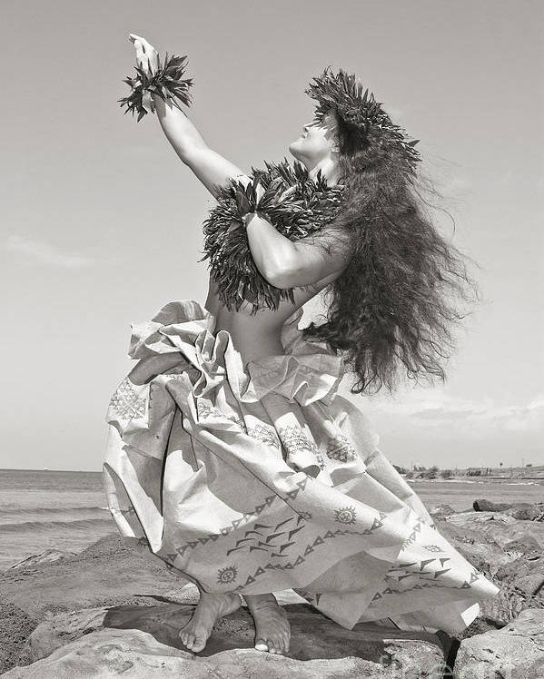 Active Poster featuring the photograph Wahine Hula by Himani - Printscapes