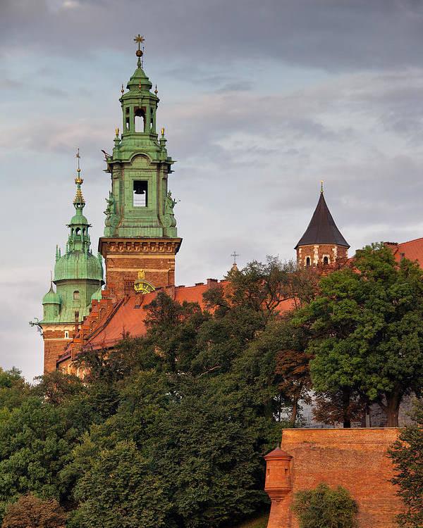 Wawel Poster featuring the photograph Wawel Royal Castle In Krakow by Artur Bogacki