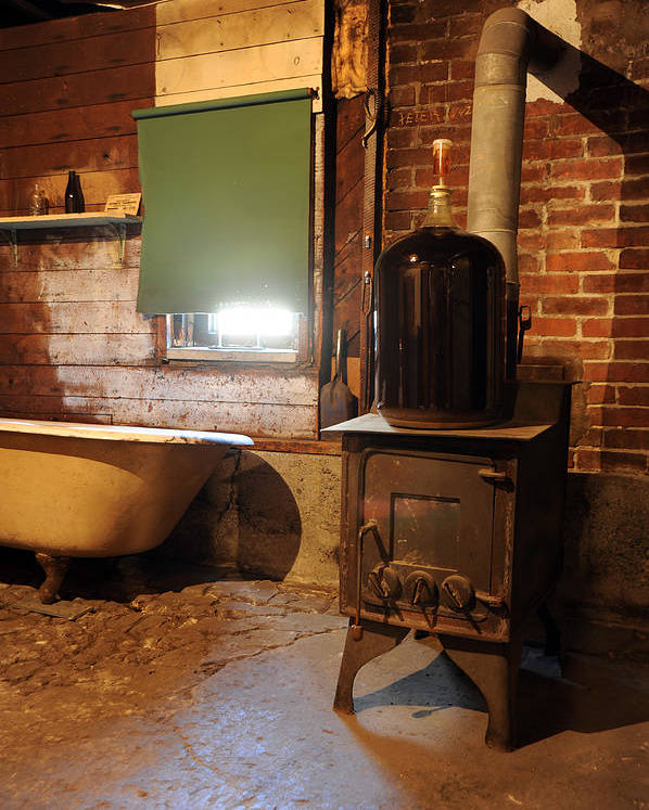 Wood Stove Poster featuring the photograph West End Basement Brewing by Jason Evans