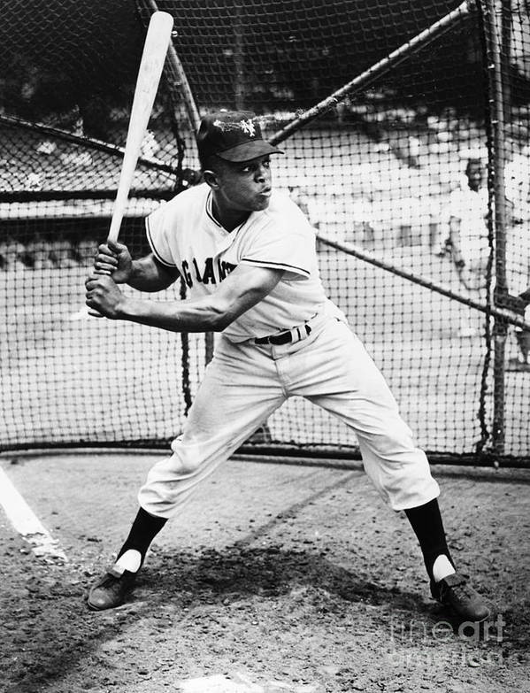 1955 Poster featuring the photograph Willie Mays (1931- ) by Granger
