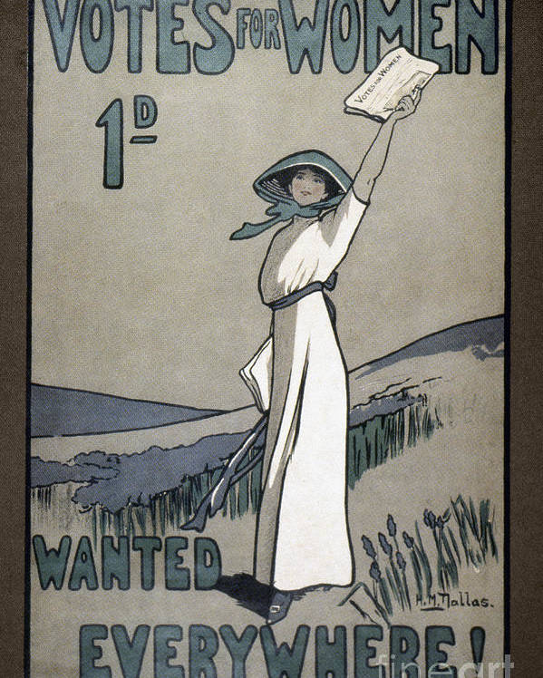 1907 Poster featuring the photograph Womens Rights by Granger