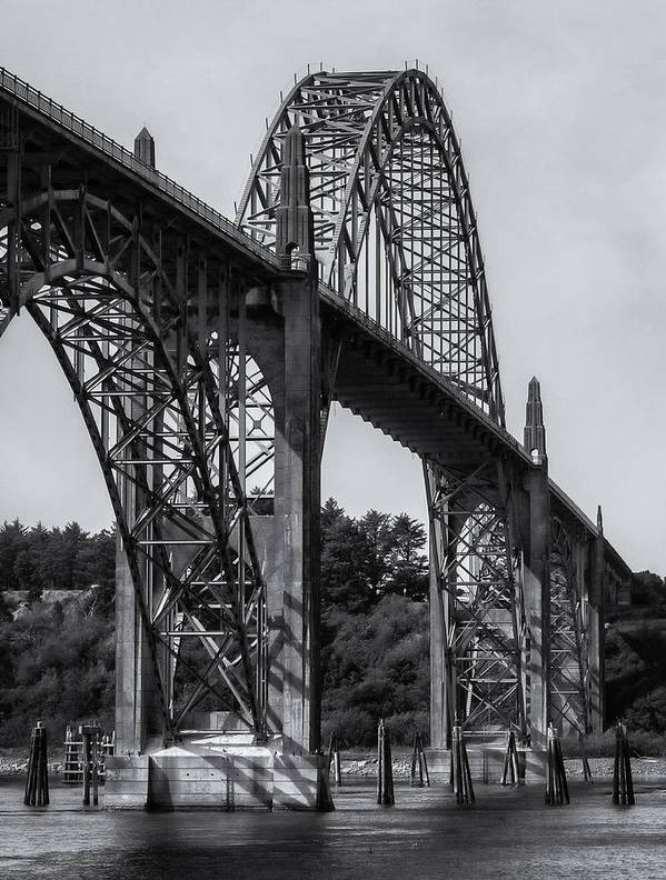 Newport Poster featuring the photograph Yaquina Bay Bridge by Jayme Spoolstra