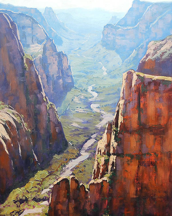 Paintings Poster featuring the painting Zion Canyon by Graham Gercken