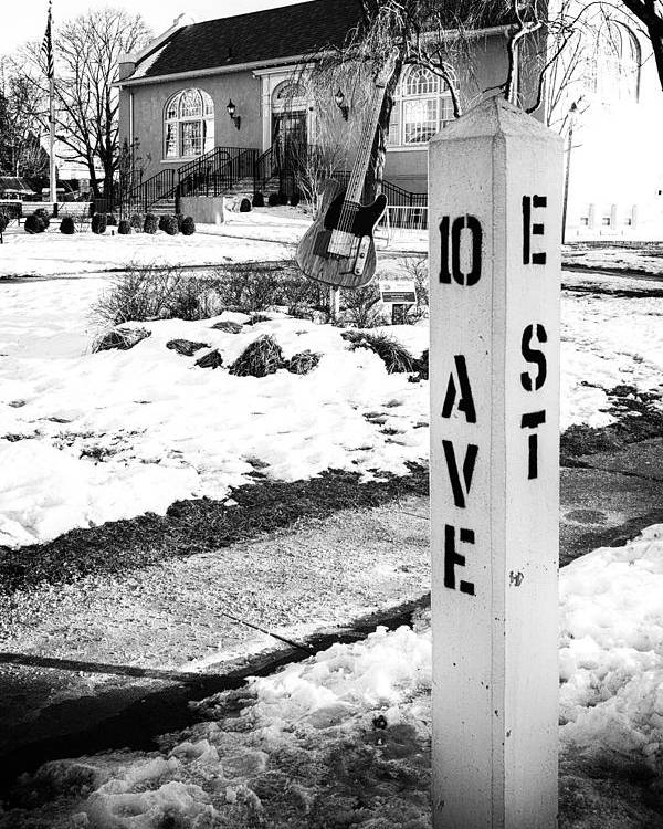 Terry D Photography Poster featuring the photograph 10 Ave and E St Belmar New Jersey by Terry DeLuco