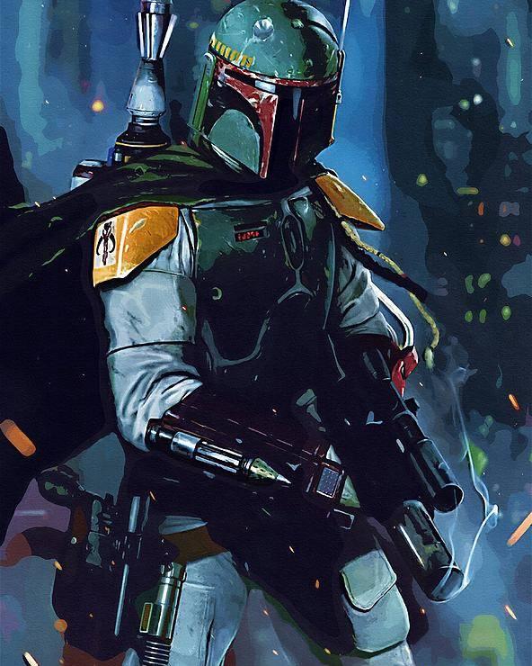 Star Wars Trooper Poster featuring the digital art Star Wars Galactic Heroes Poster by Larry Jones