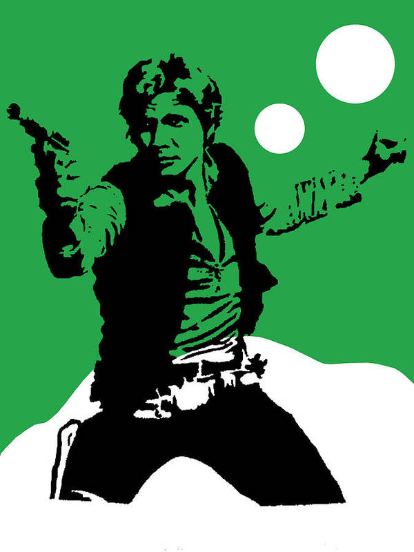 Star Wars Poster featuring the mixed media Star Wars Han Solo Collection by Marvin Blaine