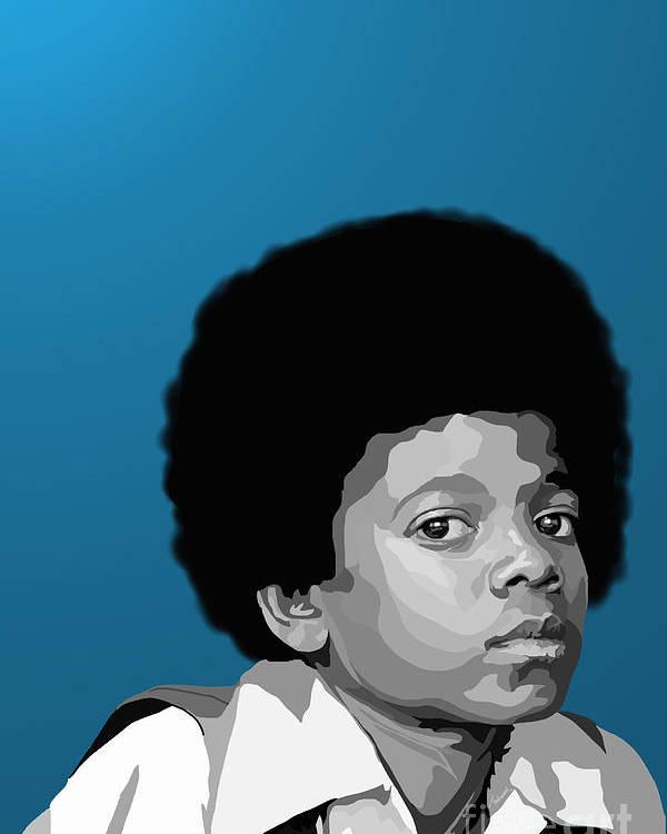 Micheal Jackson Poster featuring the digital art 108. Easy As 123 by Tam Hazlewood