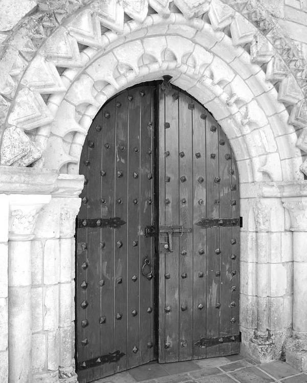 Wooden Doors Poster featuring the photograph Miami Monastery by Rob Hans