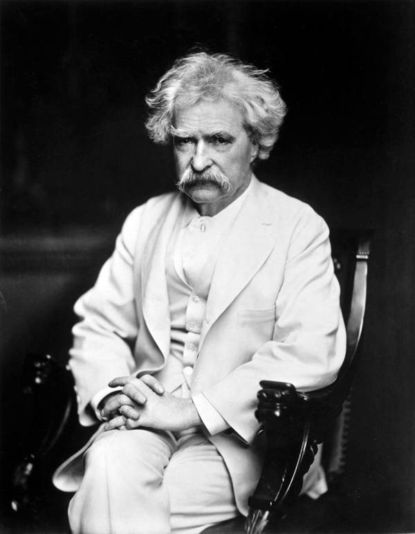 1900 Poster featuring the photograph Samuel Langhorne Clemens by Granger