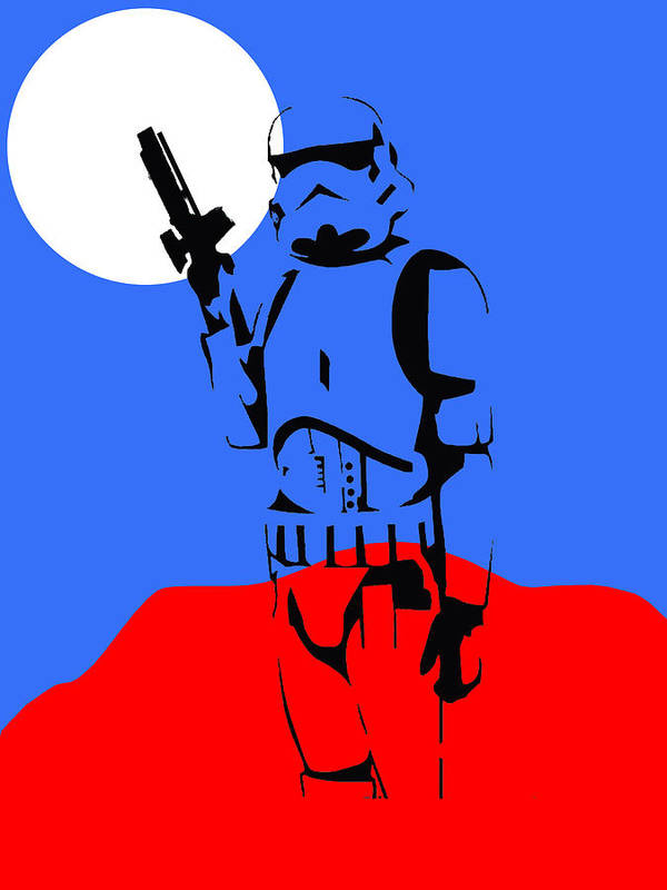 Star Wars Poster featuring the mixed media Star Wars Stormtrooper Collection by Marvin Blaine